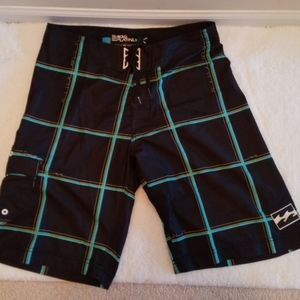 Billabong Black/Blue/Green Swimming Shorts